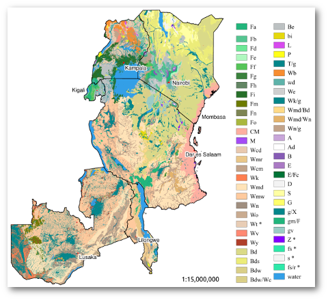 Map Of Africa Vegetation.Simplified Pnv Map